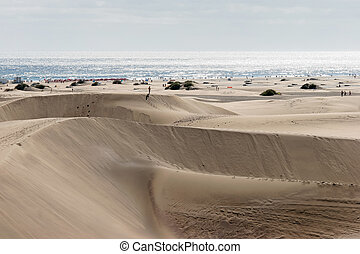 A view of the sand dunes near Maspalomas Gran Canaria