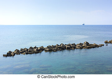 A view of the sea of Gallipoli