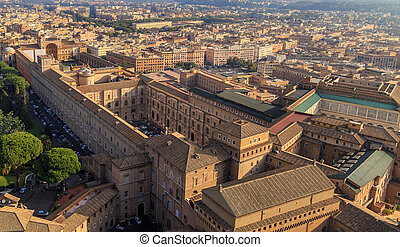 A view of the Sistine Chapel and the Vatican Museums in Rome