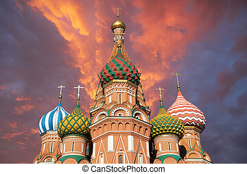 St. Basil's Cathedral - A view of the St. Basil's Cathedral,...