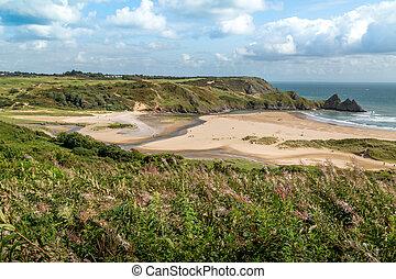 Three Cliffs Bay, Swansea, UK