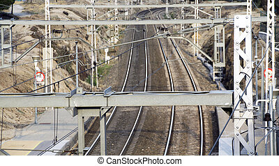 view of two railroad tracks