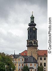 A view of Weimar Castle in Weimar
