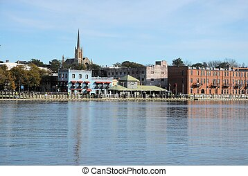 Wilmington - A view of Wilmington North Carolina from across...