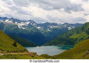 Lago Ritom - A view over Lago Ritom, Switzerland