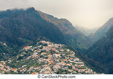 A view over the roof tops of buildings in Funchal, Madeira