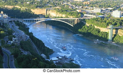 View Rainbow Bridge in Niagara Falls, Canada
