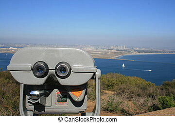 Point Loma - A viewmaster on Point Loma pointed at downtown...