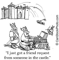 """A Viking is surprised by a friend request - """"I just got a..."""
