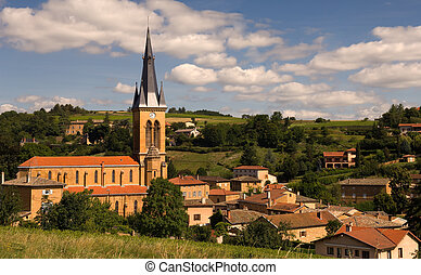 A village in Beaujolais, France - Picture of a village in ...