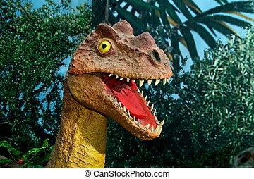 Image of extinct animals fierce raptor dromezavry