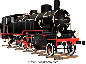 Ten Wheeled Freight Locomotive