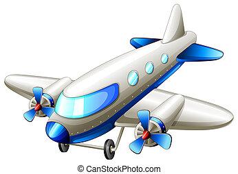 A vintage blue plane