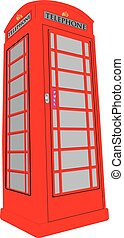 Telephone Box - A Vintage British Red Public Telephone Box...
