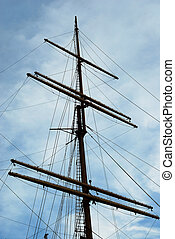 A vintage tall ship