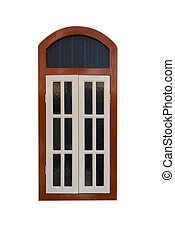 A vintage window on isolated background