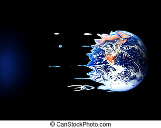 A violent death of earth - Violent death of earth by black...