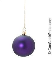 violet christmas ball