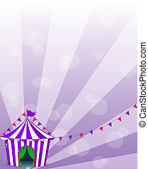 A violet circus tent - Illustration of a violet circus tent...