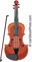 A violin on white background