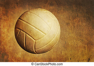 A volleyball on a grunge textured background - A volleyball ...