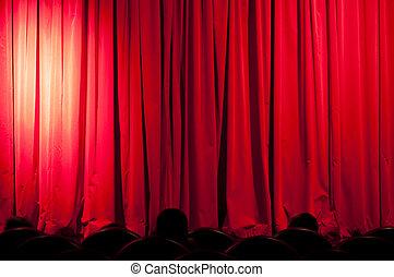 blauer vorhang sternen theater scheinwerfer. Black Bedroom Furniture Sets. Home Design Ideas