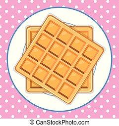 A Waffle Dish Cute Background