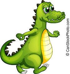 A walking crocodile