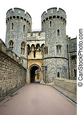 Windsor Castle, England, Great Britain - A walkway in...