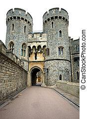 Windsor Castle, England, Great Britain - A walkway in...