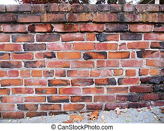 A wall made of fired bricks