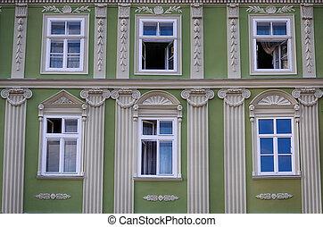 A wall of windows.