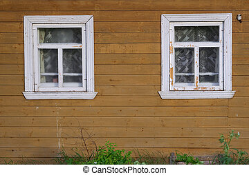 A wall with windows