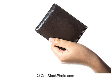 a wallet on the hand