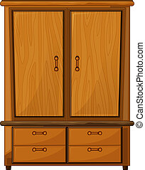 Illustration of a wardrobe on a white background