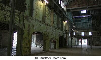 A warehouse interior shot - A medium shot of a warehouse.