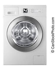 A washing machine isolated on white background