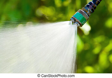 Water Nozzle - A Water Nozzle Spraying out Cool Water