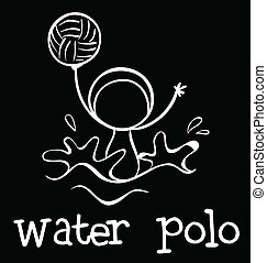A water polo sports - Illustration of a water polo sports on...