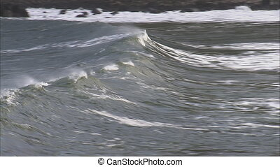 A wave building up