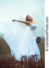 A waving gown of the bride
