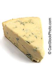 Stilton cheese - A wedge of British Stilton cheese