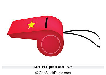 A Whistle of Socialist Republic of Vietnam - An Illustration...