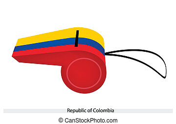 A Whistle of The Republic of Colombia