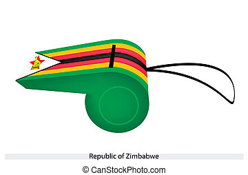 A Whistle of The Republic of Zimbabwe - Seven Horizontal ...