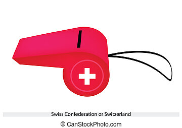 A Whistle of The Swiss Confederation Flag