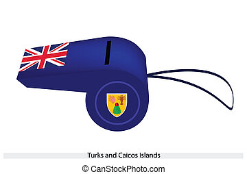A Whistle of Turks and Caicos Islands - An Illustration of...