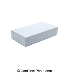 a white box template on white background
