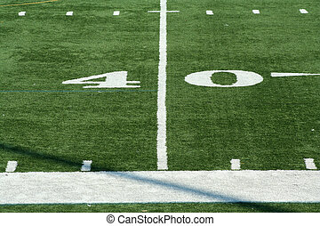 Football fourty yard marker