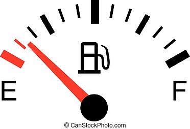 White gas tank illustration on white - Empty